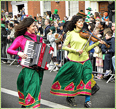 Happy Saint Patrick's Day 2010, Dublin, Irelan...
