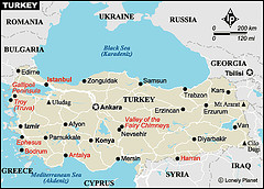 土耳其簡略地圖/ Simple Map of Turkey
